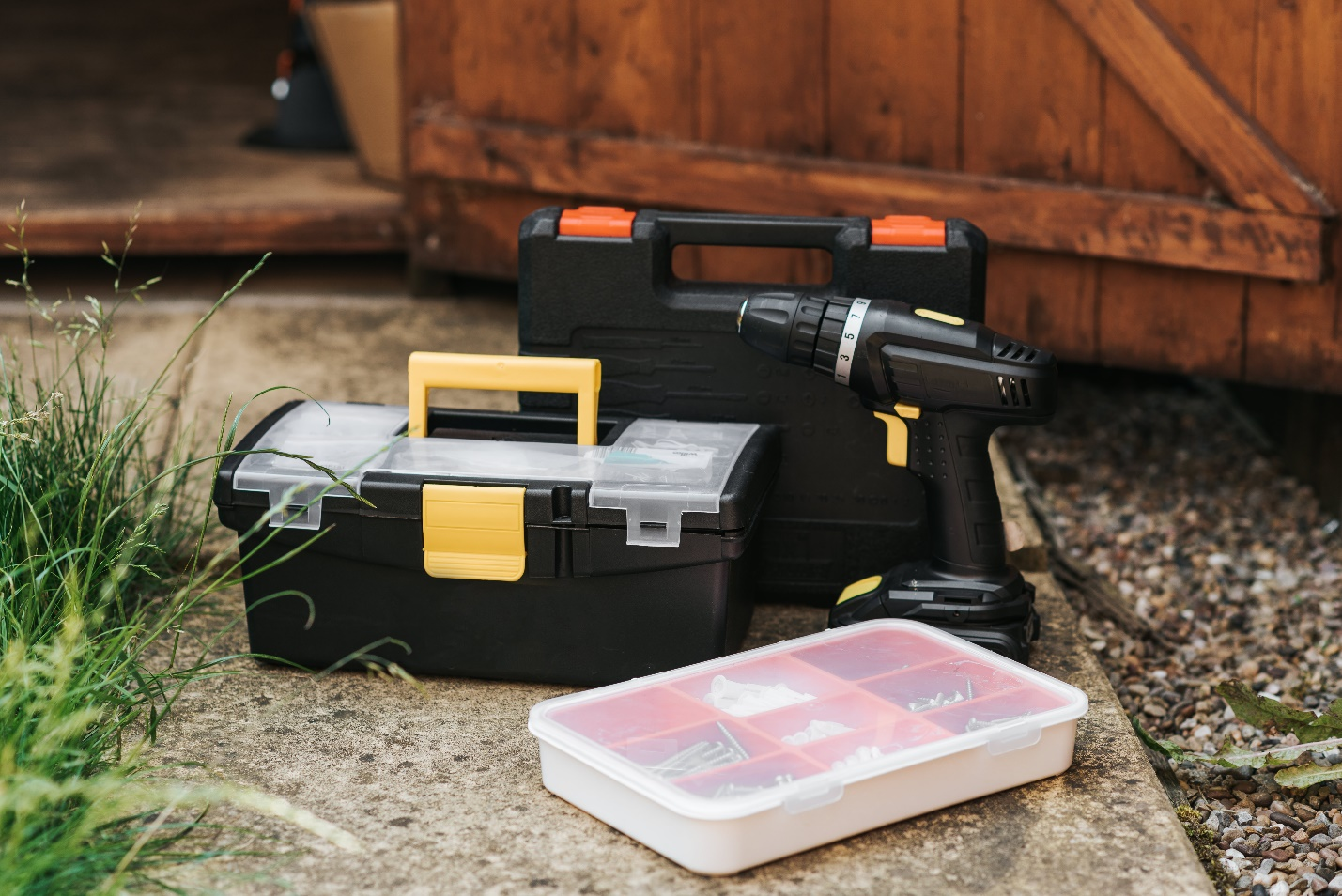 high-quality hand tools placed inside toolboxes